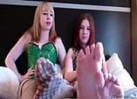 Lick Your Cum Off Our Feet